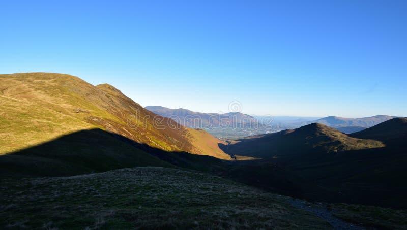 Jesieni światło słoneczne na Grisedale szczupaku zdjęcie stock