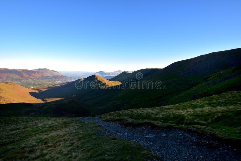 Jesieni światło słoneczne na Outerside fotografia stock
