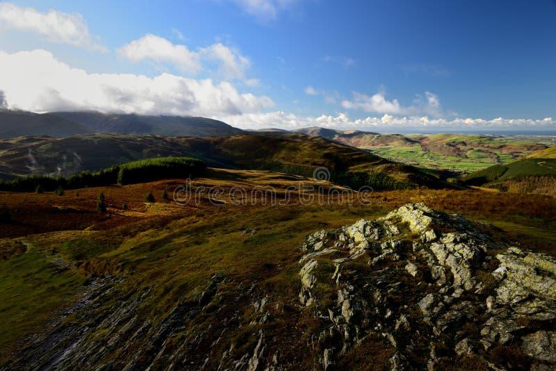Jesieni światło słoneczne nad Lorton doliną zdjęcie stock