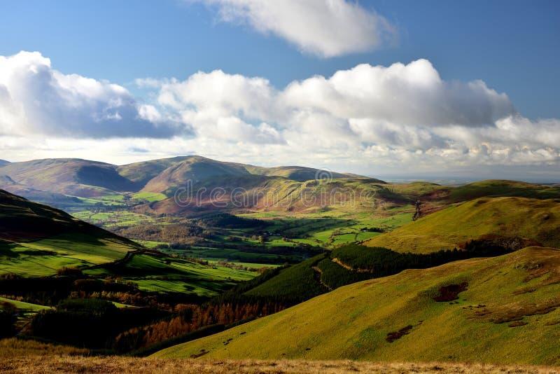 Jesieni światło słoneczne nad Lorton doliną obrazy royalty free