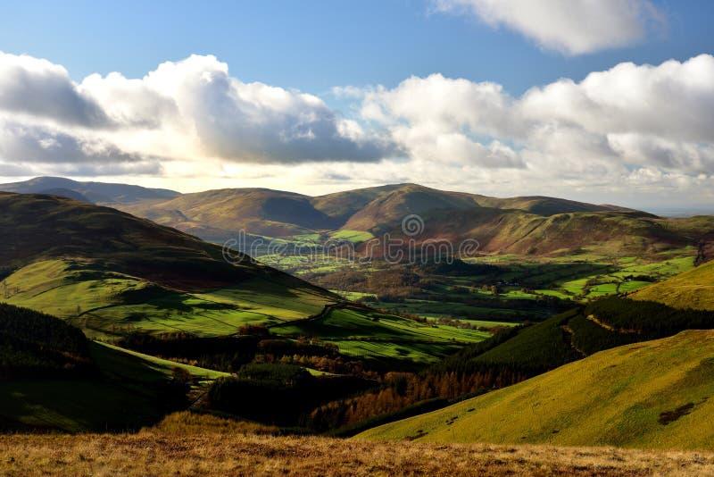 Jesieni światło słoneczne nad Lorton doliną zdjęcia stock