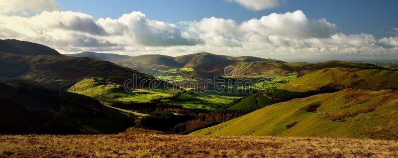 Jesieni światło słoneczne nad Lorton doliną obrazy stock