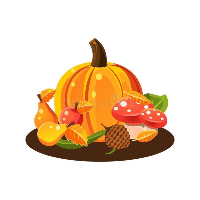 Jesieni żniwa wciąż życie royalty ilustracja
