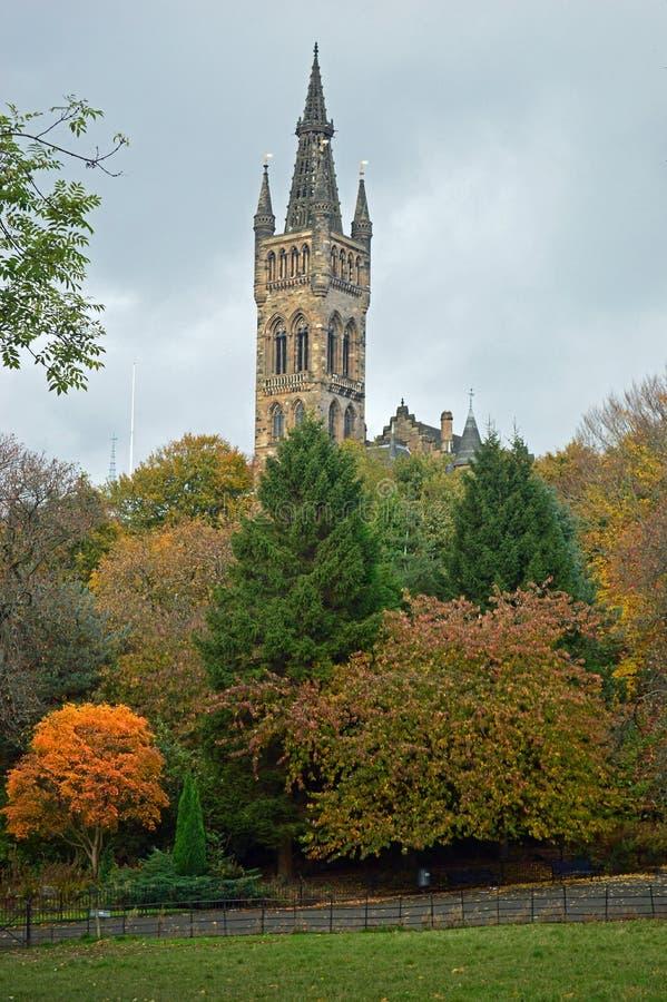 Jesieni colours w mieście Glasgow zdjęcia royalty free