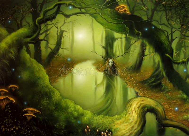 Jesieni czarodziejka royalty ilustracja