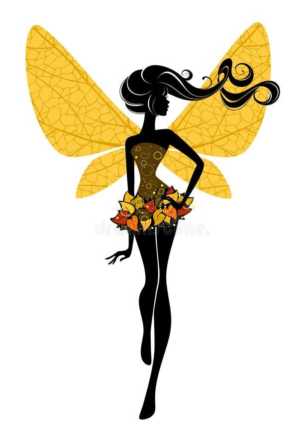 Jesieni czarodziejka ilustracji