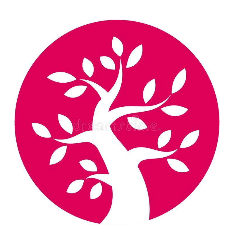 Jesieni drzewna round ikona ilustracja wektor