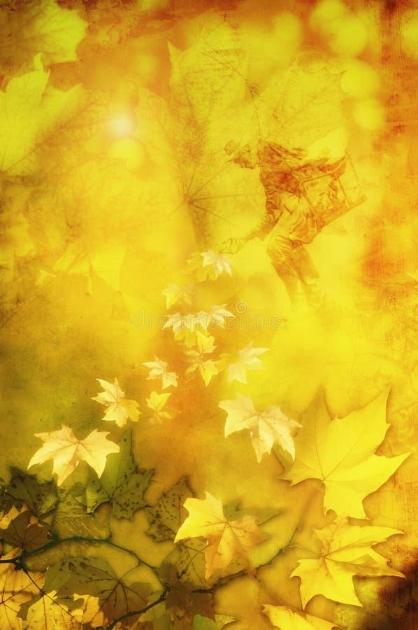 Jesieni fantazja royalty ilustracja