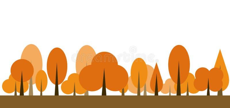 Jesieni ikony drzewny wektor royalty ilustracja