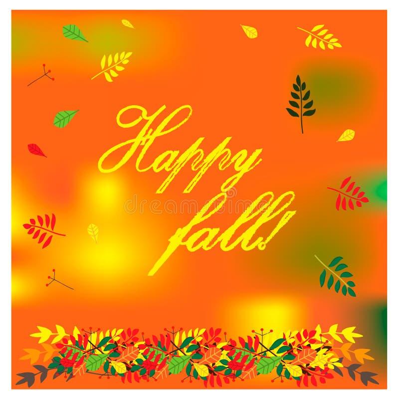 Jesieni ilustracja z kolorowymi różnymi liśćmi również zwrócić corel ilustracji wektora royalty ilustracja