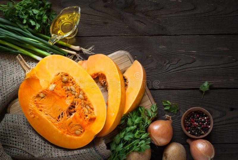 Jesieni jedzenia tło fotografia stock
