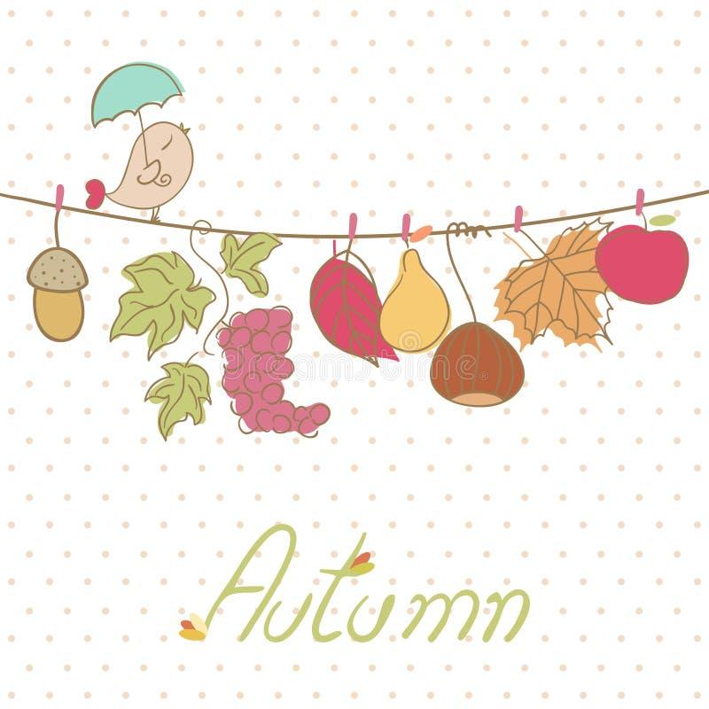 Jesieni karta ilustracji