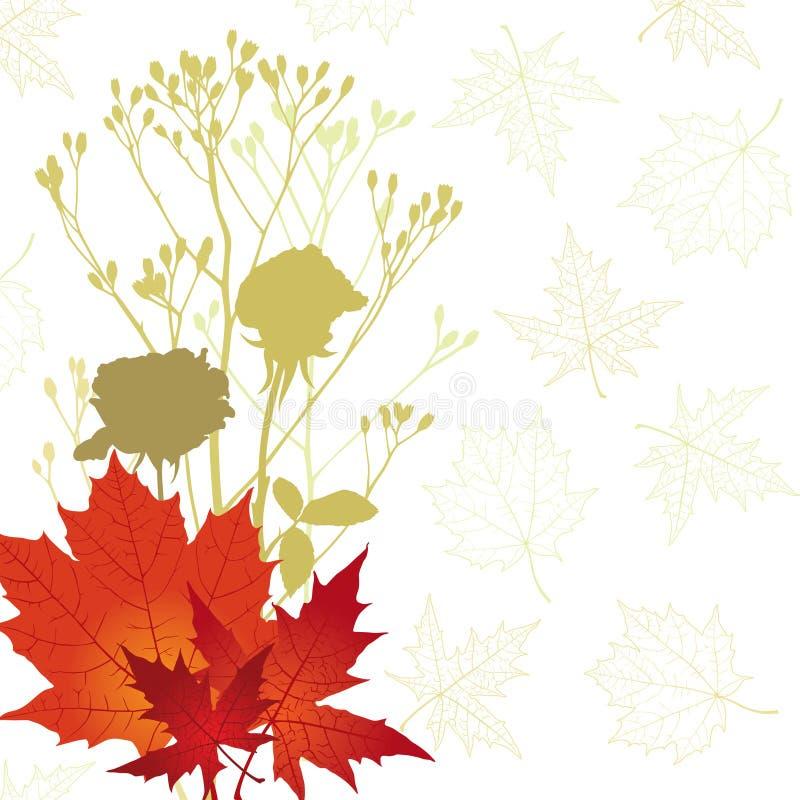 Jesieni karta ilustracja wektor
