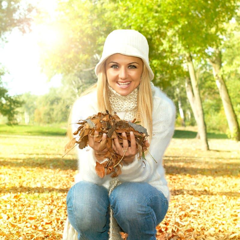 Jesieni kobiety obrazy stock