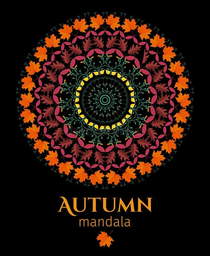 Jesieni mandala ilustracja wektor