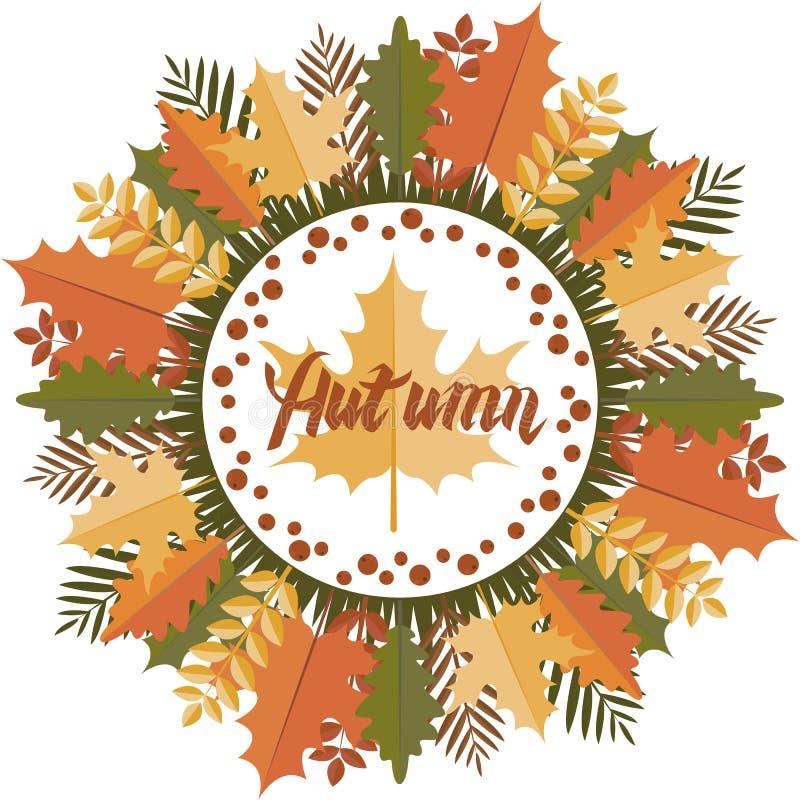 Jesieni mandala Kurenda wzór ilustracja wektor