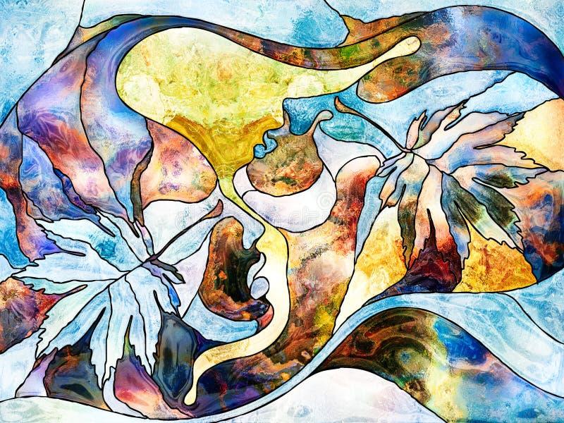 Jesieni miłość ilustracja wektor