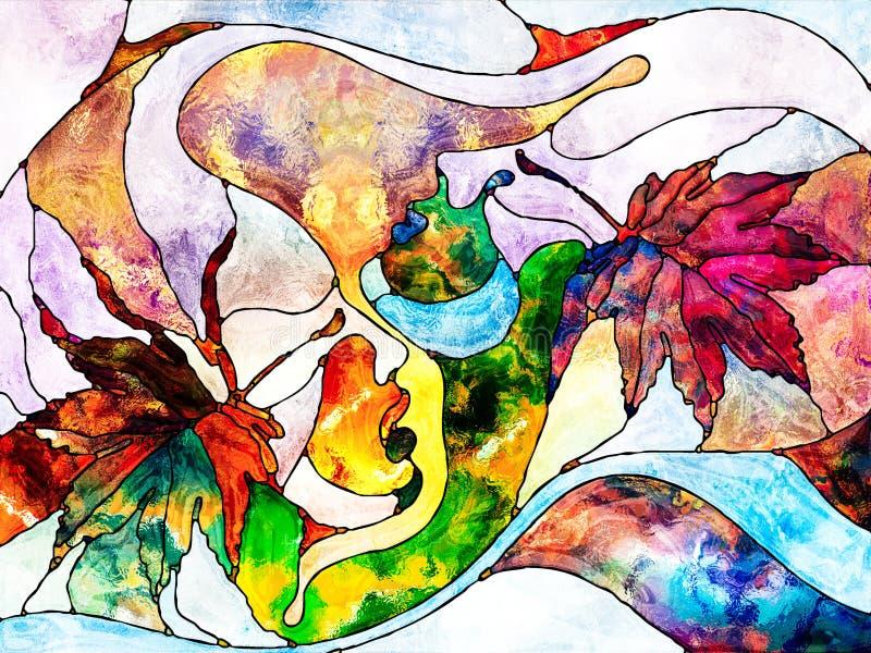 Jesieni miłość ilustracji