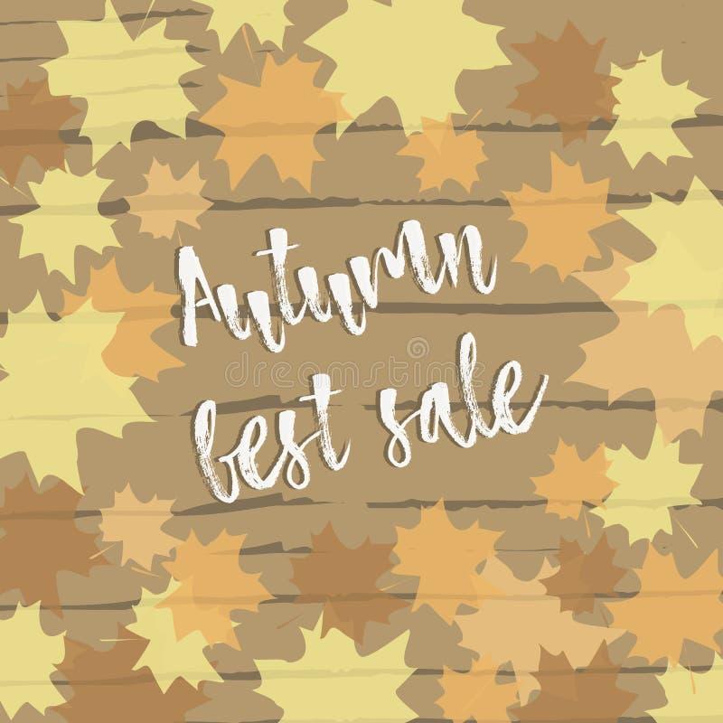 Jesieni najlepszy sprzedaż zostaw tła jesienny klonów ilustracji