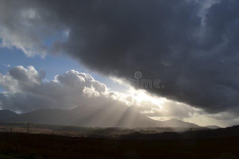 Jesieni nieba w średniogórzach obraz royalty free