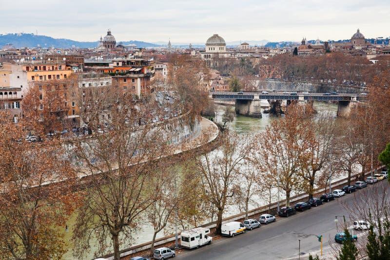 Jesieni panorama Rzym od Aventine wzgórza fotografia royalty free