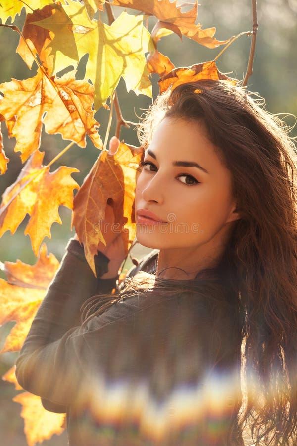 Jesieni piękna portret obraz stock