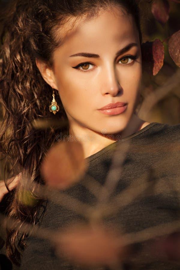 Jesieni piękna portret fotografia royalty free
