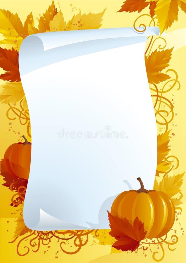 Jesieni puste miejsce dla dziękczynienia ilustracji