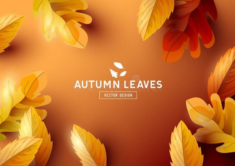 Jesieni Ramowego tła Odgórny widok royalty ilustracja