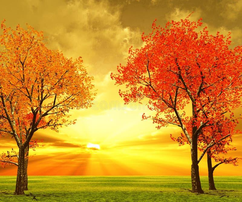 Jesieni sceneria obraz royalty free