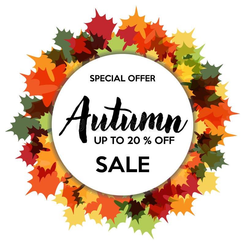 Jesieni 20% sprzedaż Z sklepu rabata ilustracji