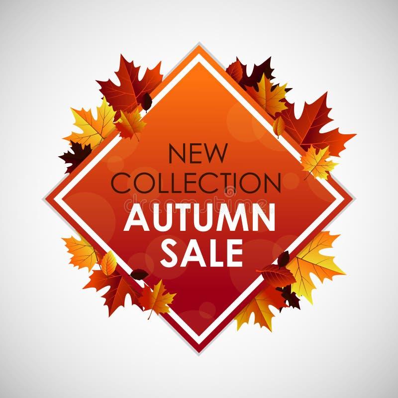 Jesieni sprzedaży nowy inkasowy sztandar ilustracji