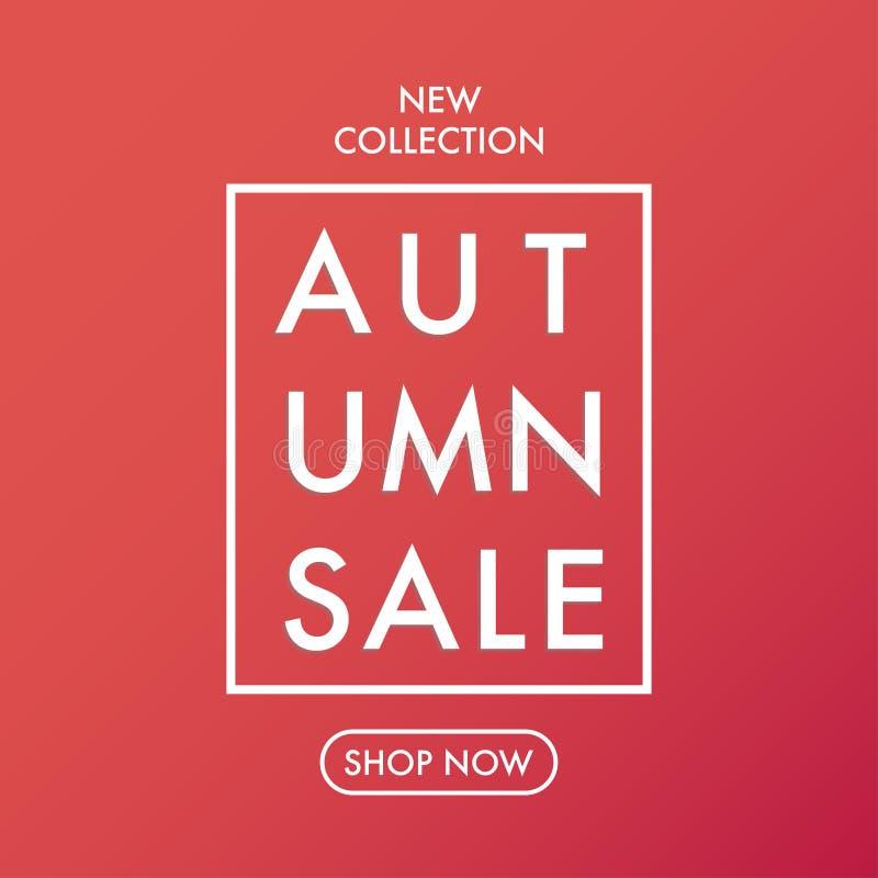 Jesieni sprzedaży sztandaru miękkiej części ciepli kolory wektorowi ilustracja wektor