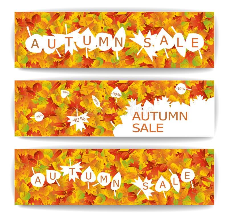 Jesieni sprzedaży sztandary ilustracji