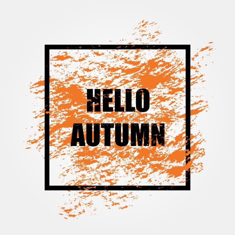 Jesieni sprzedaży tła układ dekoruje ilustracja wektor