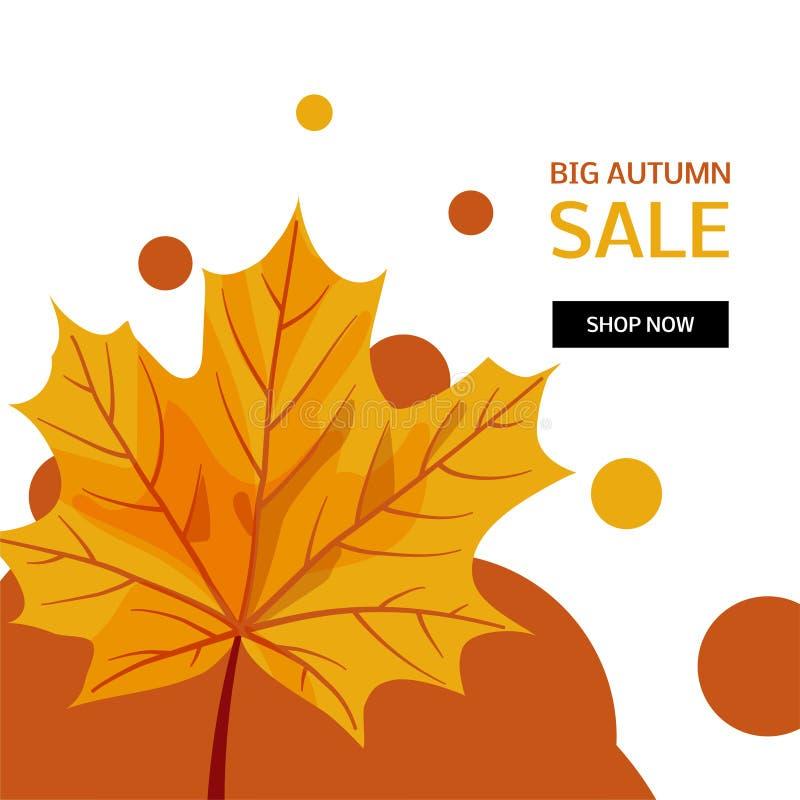 Jesieni sprzedaży wektorowy projekt royalty ilustracja