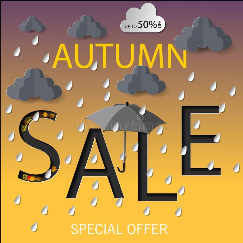 Jesieni sprzedaży wektoru ilustracja ilustracji