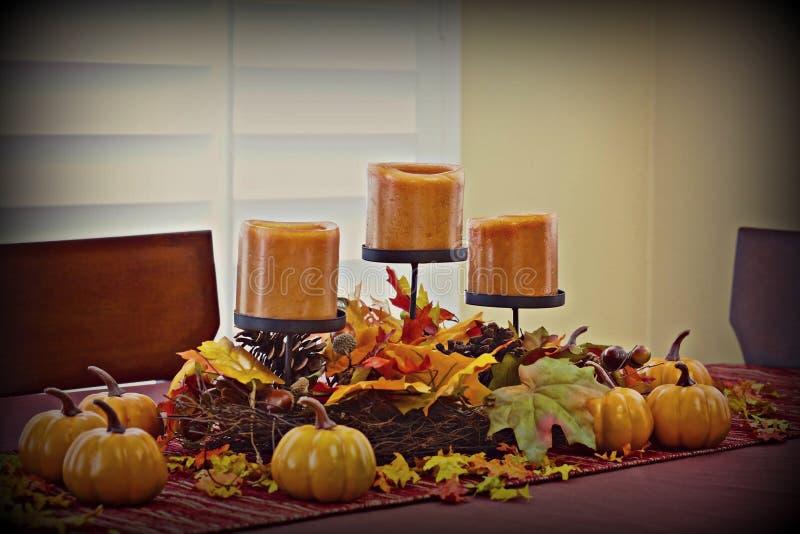 Jesieni stołowy centerpiece fotografia stock