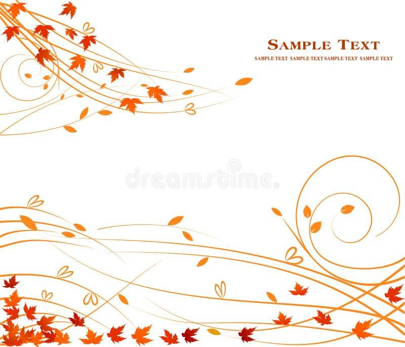 Jesieni tła kwiecisty projekt - sztuki dekoraci akcyjny piękno royalty ilustracja