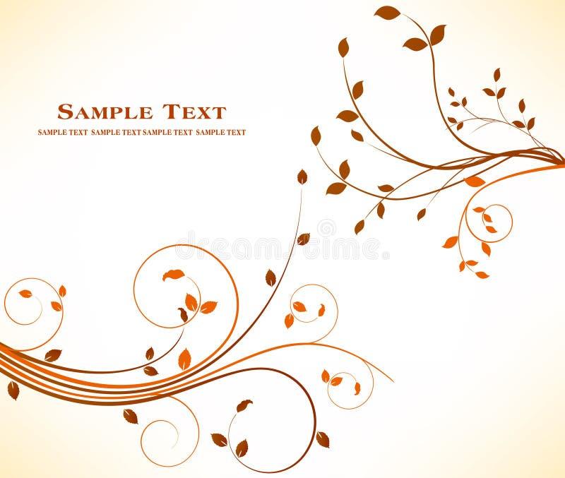 Jesieni tła kwiecisty projekt - sztuki dekoraci akcyjny piękno ilustracji
