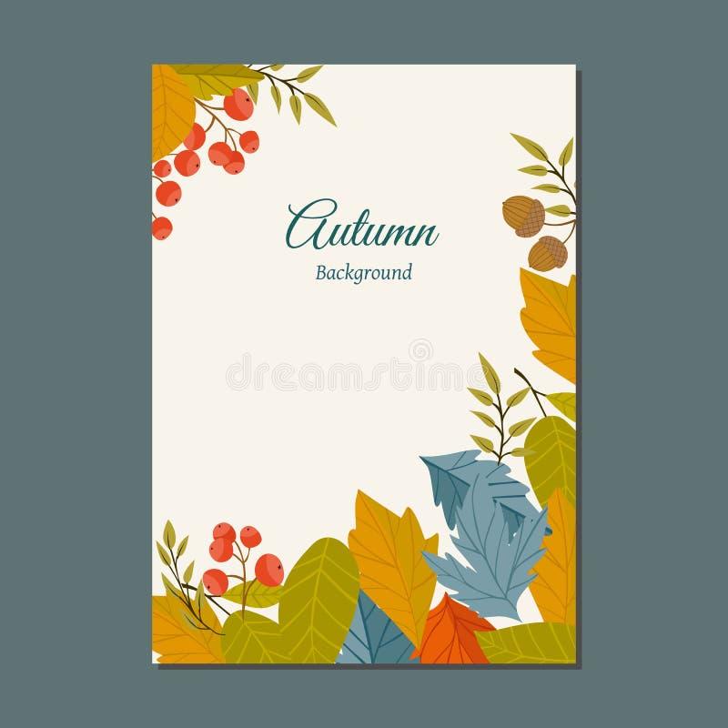 Jesieni tła wektoru ilustracja ilustracja wektor