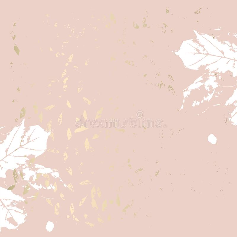 Jesieni ulistnienia różanego złocistego rumiena modny modny tło royalty ilustracja