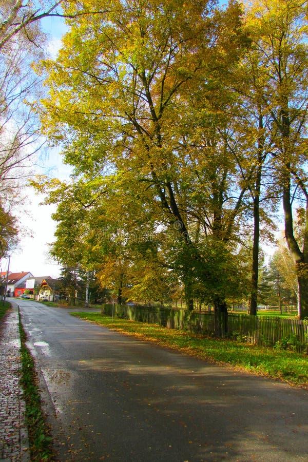 Jesieni wioska obrazy stock