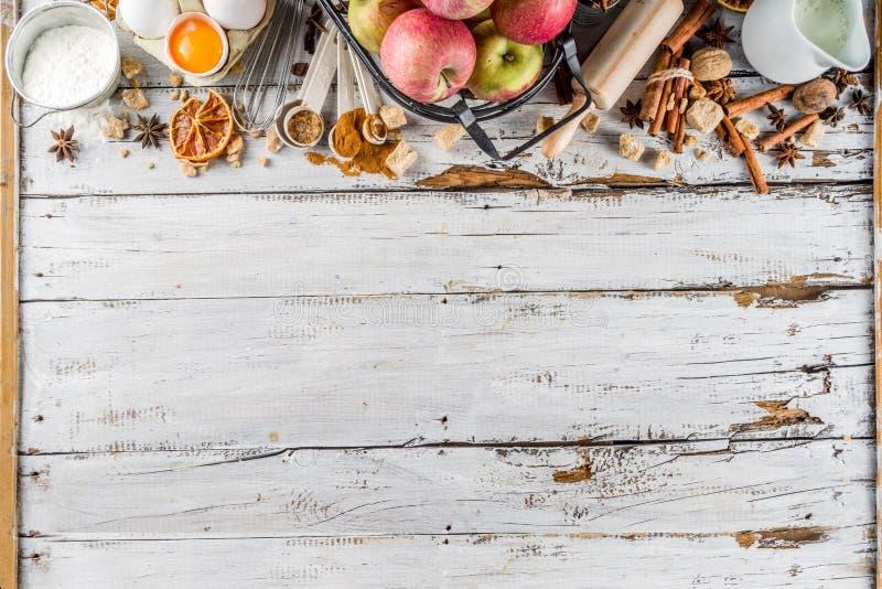 Jesieni wypiekowy t?o zdjęcie royalty free