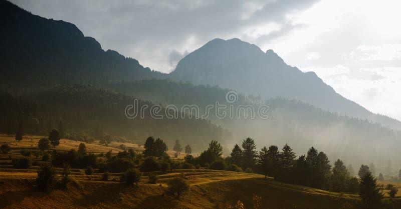 Jesieni wzgórza zdjęcie royalty free