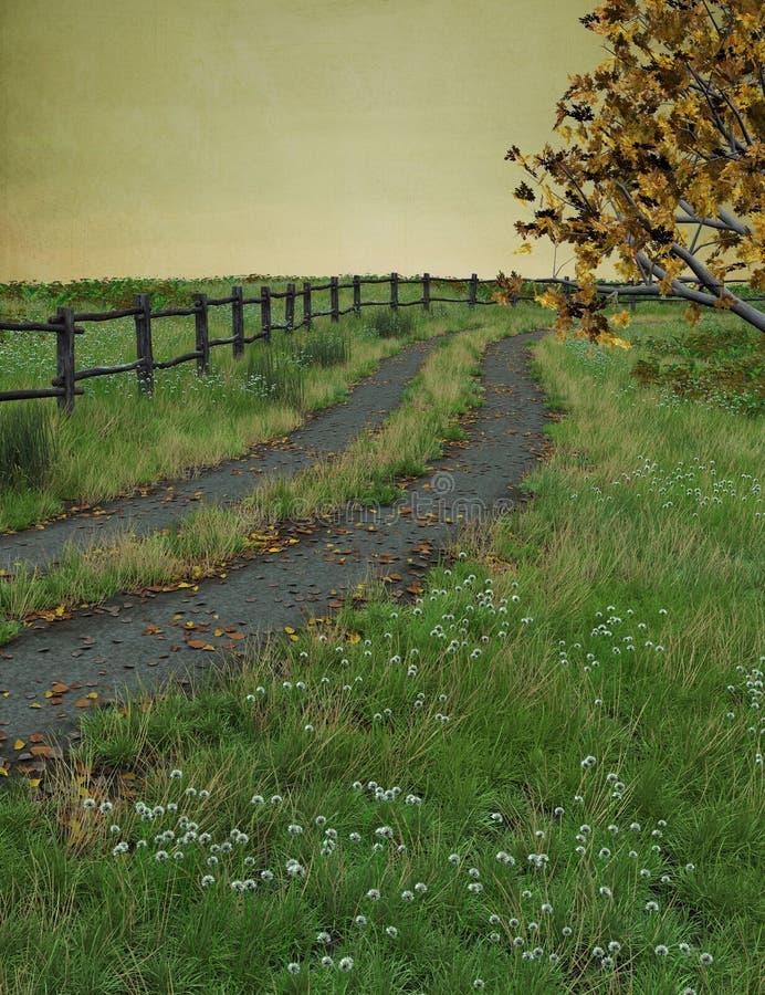 jesienna droga przemian ilustracji
