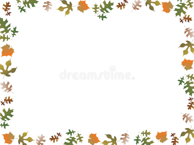 jesienna granicy royalty ilustracja