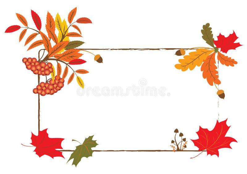 jesienna rama ilustracja wektor