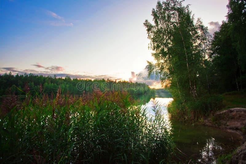 jesienny jezioro obrazy royalty free