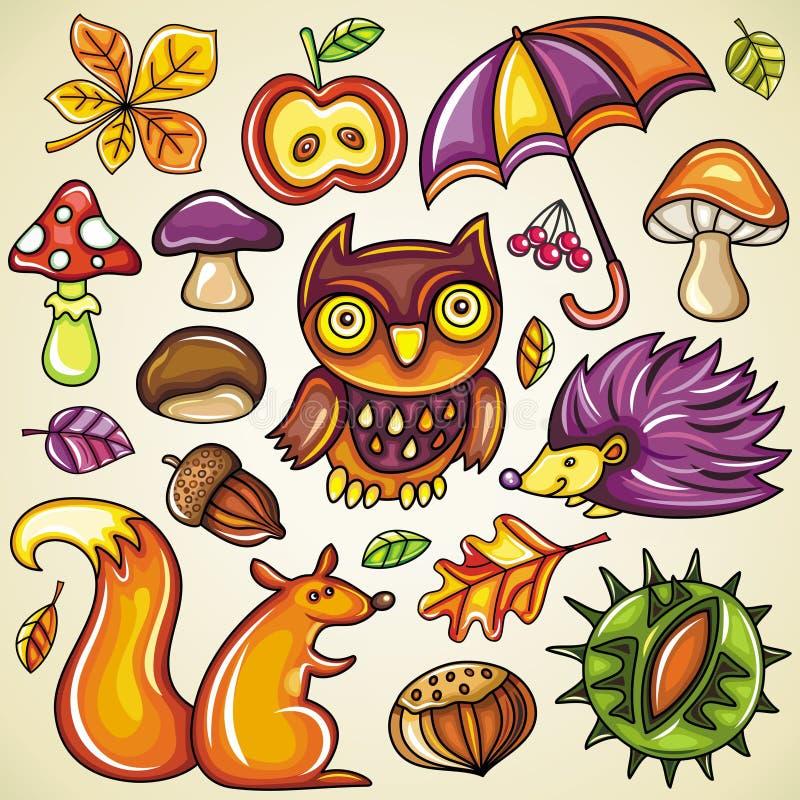 jesienny set royalty ilustracja